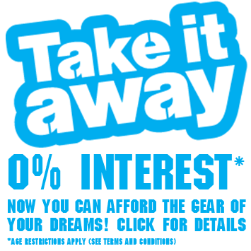 Take It Away with 0% Interest Now you can afford the gear of your dreams! Click for details